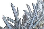 Selenite crystals