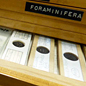 Microslide cabinet of microfossils.