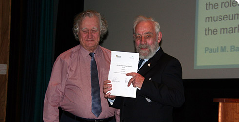 John Quayle receiving the Marsh Award in 2014.