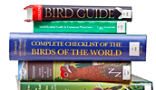 Selection of bird guides and books.