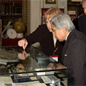 His Majesty the Emeror of Japan views a display with the Linnean Society Zoological Curator