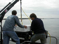 Deploying ROV