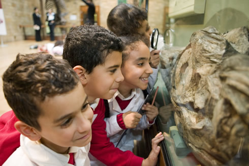 Children enjoy the Natural History Museum, which has welcomed more than 35 million visitors in the p