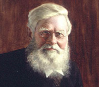 Alfred Russel Wallace, co-discoverer with Charles Darwin of the process of evolution by natural sele
