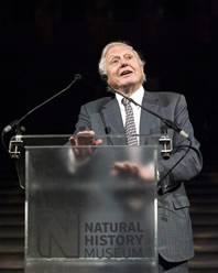 Sir David Attenborough at the opening of Extinction: Not the End of the World?