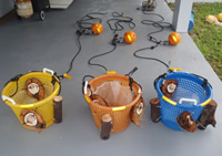 The 3 baskets were laid at different ocean depths in the Bahamas October 2011 to attract bone-eating