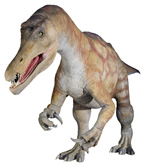 Natural History Museum Baryonyx animatronic model