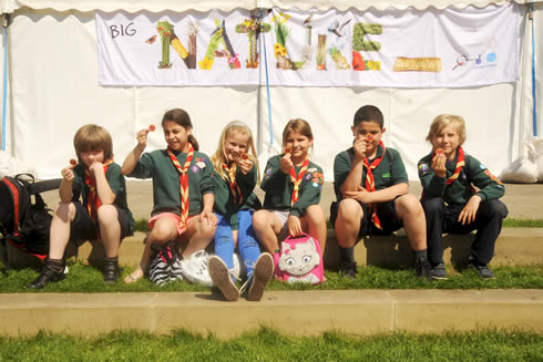 Cub-Scouts at the Natural History Museum's Big Nature Day