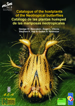 Front cover of the Catalogue of the hostplants of the Neotropical butterflies