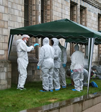 Crime Scene Live participants get their forensic coats on