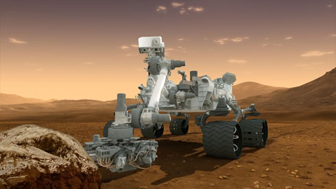 Illustration of NASA's Curiosity, Mars Science Laboratory