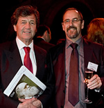 Lord Melvin Bragg and Bob Bloomfield attend Darwin's 200th birthday celebrations