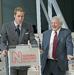 HRH Prince William of Wales and Sir David Attenborough unveil the new