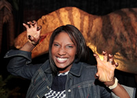 Olympic gold medallist Denise LewisOBE at Age of the Dinosaur