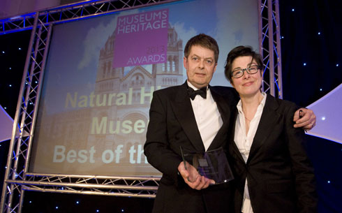 Museum's Dr Michael Dixon with comedienne and broadcaster Sue Perkins