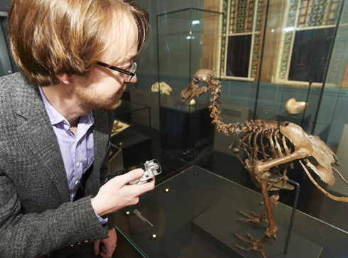 Tim Watts with NHM dodo