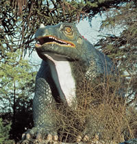 Visit the Crystal Palace Park dinosaurs and collect a rubbing of the Treasures specimen
