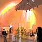 Artist's impression of visitors inside the cocoon