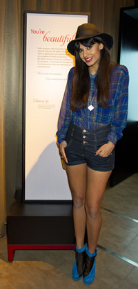 TV presenter Jameela Jamil at the Sexual Nature exhibition preview