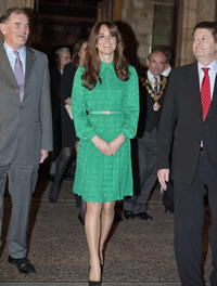 HRH The Duchess of Cambridge with Museum Trustee Chair Oliver Stocken and Museum Director M Dixo
