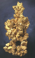 The Latrobe nugget is probably the world's most impressive crystallised gold nugget