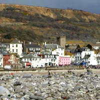 Lyme Regis is on the Jurassic Coast and holds a popular annual fossil festival