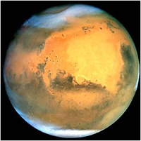 The planet Mars. It's our closest neighbour.