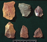 Selection of stone tools from Gorham's cave that Neanderthals would have used