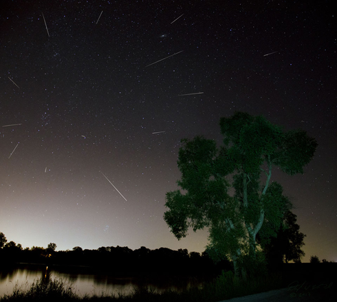 Perseid meteor shower August 2013