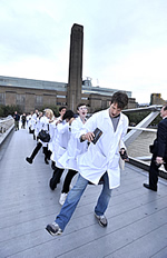 The Science Street Team outside Tate Modern promoting Science Uncovered