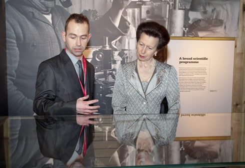 HRH The Princess Royal at the Museum's opening of Scott's Last Expedition
