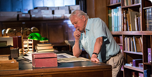 Sir David Attenborough in our library