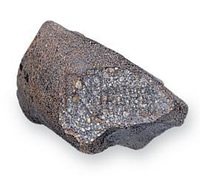 A stony meteorite, the most common type of meteorite found