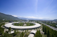 The Synchrotron, in France, uses radiation to produce a series of X-ray scans that are combined to m
