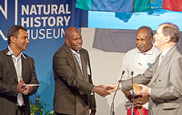 Traditional Owners of the Torres Strait Islands (TSI), inc Ned David (left), and Oliver Stocken