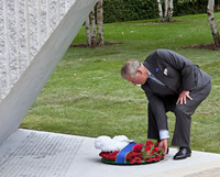 His Royal Highness, The Prince of Wales lays a wreath at the Tsunami Memorial
