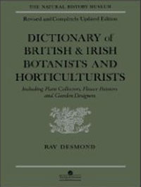 Dictionary of British and Irish Botanists and Horticulturists cover