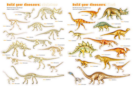 Pages from Dinosaur Sticker Book