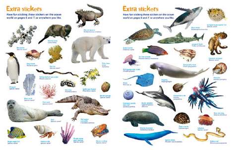 Pages from Ocean Sticker Book