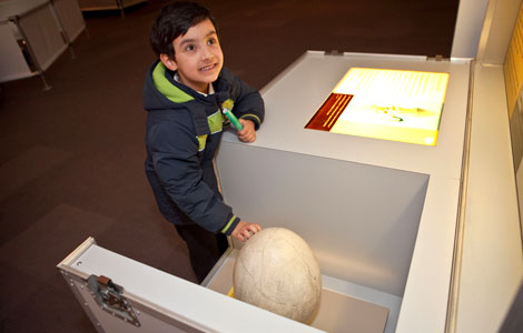 Visitor at an interactive display