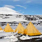 Antarctic conservation. Tents after a storm, 2011.