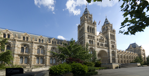 Front view of the Natural History Museum, London