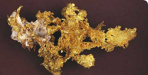 Gold, found at the Eagle's Nest mine, California