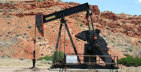 A Pumpjack in Wyoming, USA
