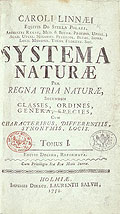 Systema Naturae. Title page