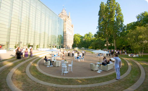 The Darwin Centre courtyard is ideal for summer drinks receptions