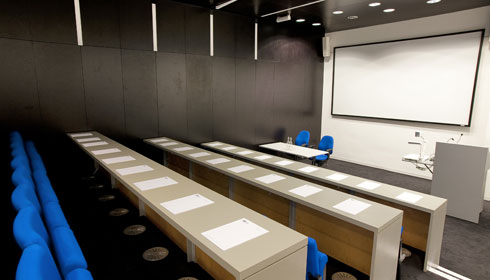 The Neil Chalmers seminar room, ideal for conferences, presentations and training days