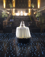 The icing on the cake... A twinkling floor adds drama to Hintze Hall