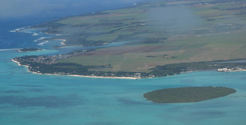 Ile-aux-Aigrette, an islet just off the south-eastern coast of Mauritius