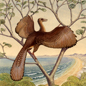 Archaeopteryx lived near a large shallow, coastal lagoon.